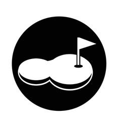 Golf court icon vector