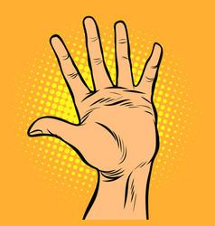 hi five hand gesture vector image