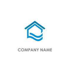 home realty wave water logo vector image