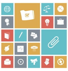 icons tile business office vector image
