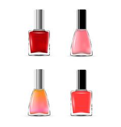 Image nail polish various colors vector