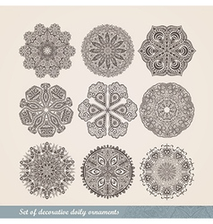 Indian ornament kaleidoscopic floral pattern vector