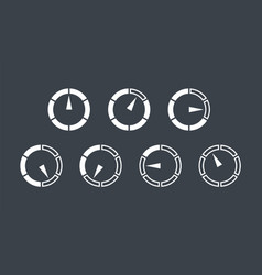 info-graphic gauge elements speedometer set icons vector image