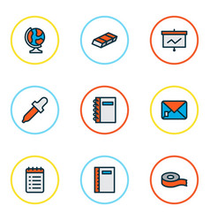 Instrument icons colored line set with eyedropper vector