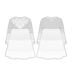 knitted white dress for a toddler girl vector image