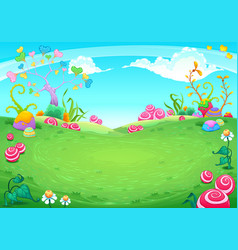 landscape with fantasy natural elements vector image