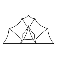 large tent icon outline style vector image