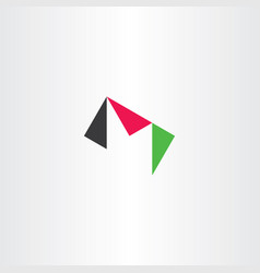 m letter triangle logo icon vector image