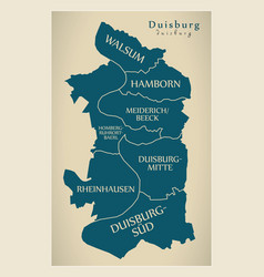 Modern city map - duisburg city of germany with vector