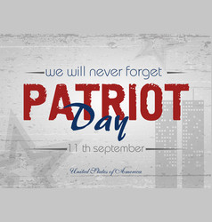 patriot day lettering vector image