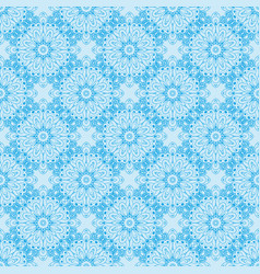 pattern with floral circular ornaments vector image