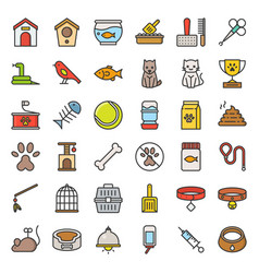 pet shop related and symbol filled outline icon vector image