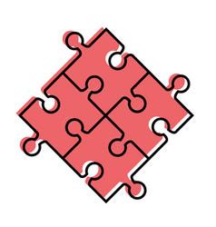 Puzzle piece symbol vector