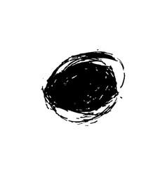 red brush stroke circle vector image