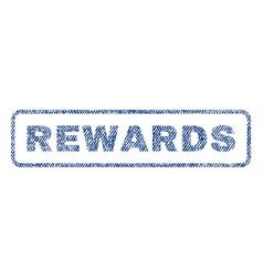 Rewards textile stamp vector