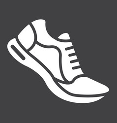 Running shoes glyph icon fitness and sport vector