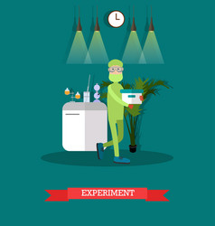 scientific experiment concept flat vector image