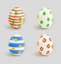 set color easter eggs vector image