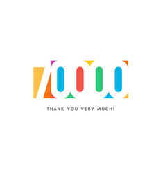 Seventy thousand subscribers baner colorful logo vector