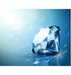 Shimmering diamond background vector