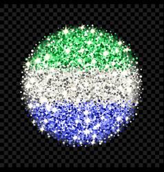 sierra leone flag sparkling badge vector image
