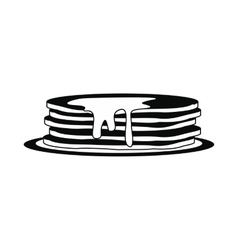 Stack of pancakes icon simple style vector image