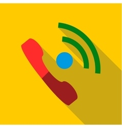 Talking on phone icon flat style vector