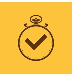 The stopwatch icon Clock and watch timer vector