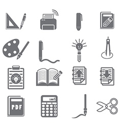 tools learning icon set 3 vector image