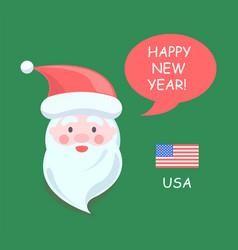 usa santa claus happy new year vector image