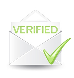 Verified Mail vector image