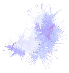 Violet and purple splash stain vector