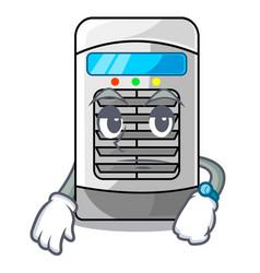 Waiting air cooler in cartoon shape vector