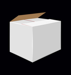 white cardboard close box side view package vector image