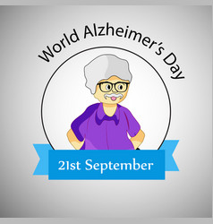 World alzheimers day background vector