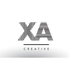 Xa x a black and white lines letter logo design vector