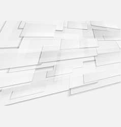 abstract grey tech geometric motion background vector image vector image