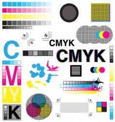 CMYK designs vector image