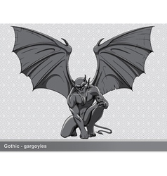 gothic gargoyle vector image vector image