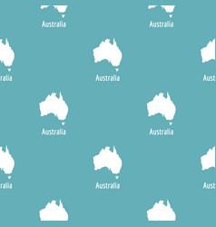australia map in black simple vector image vector image