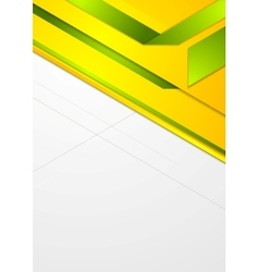 Bright corporate geometric background vector image