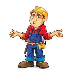 Cartoon Builder Regret vector image