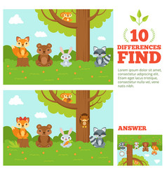 educational game for kids with funny forest vector image