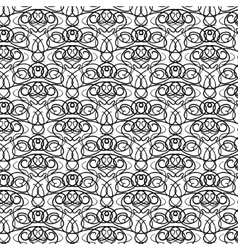 Elaborate curly black and white pattern vector image