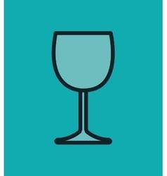 icon glass wine design vector image