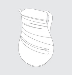 image of a simple jug vector image vector image