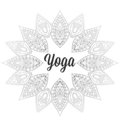 zentangle Yoga monochrome design hand drawn vector image vector image