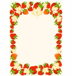 berry frame vector image vector image