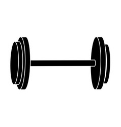 dumbbell weight gym equipment image silhouette vector image
