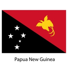 Flag of the country papua new guinea vector